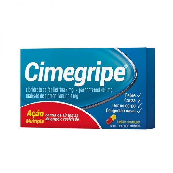 Cimegripe antigripal 20 cápsulas CIMED