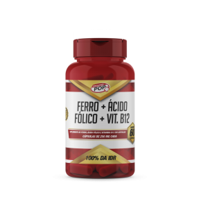 Ferro + Ácido Fólico caps 250mg c/60 POP