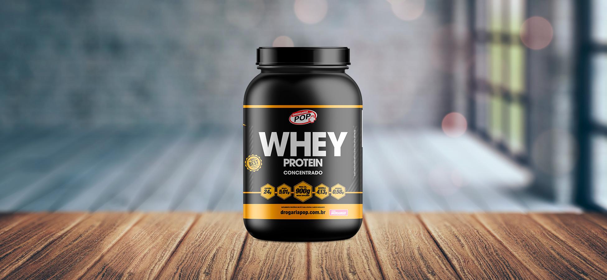 Banner: Whey Protein Morango 900g