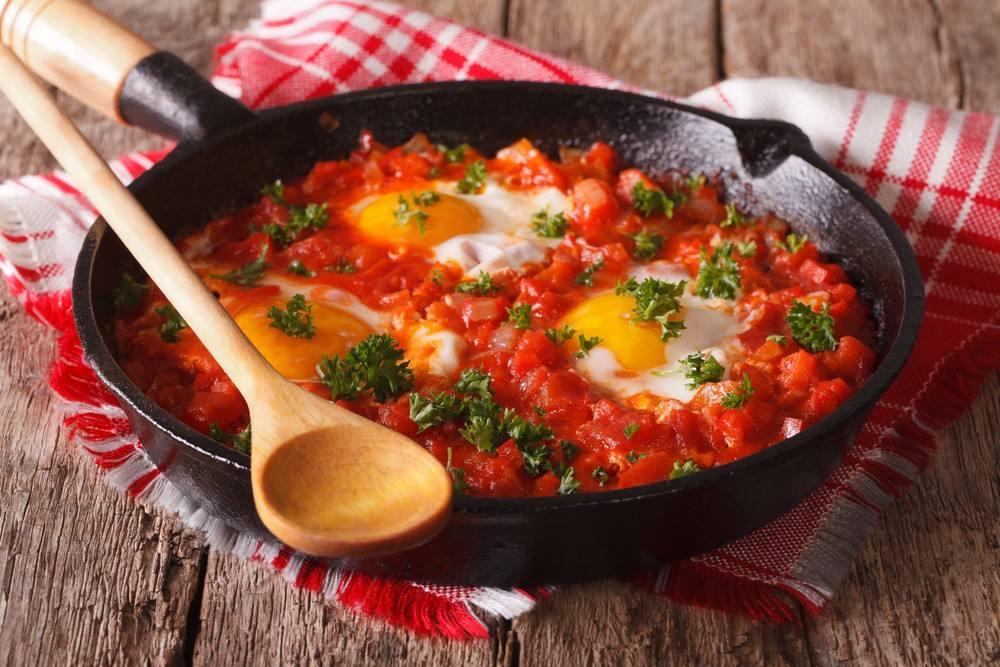 Ovos com tomate, fonte de Licopeno